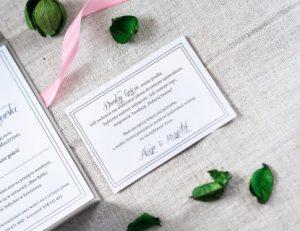 gustowne ślubne zaproszenie