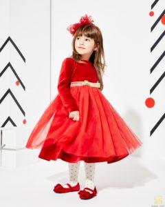 czerwona dziewczęca sukienka