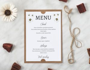 menu na wesele - styl boho